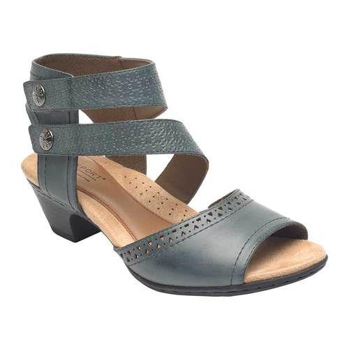 e5f4753cc Women s Rockport Cobb Hill Abbott 2 Piece Cuff Sandal - Blue Leather Sandals