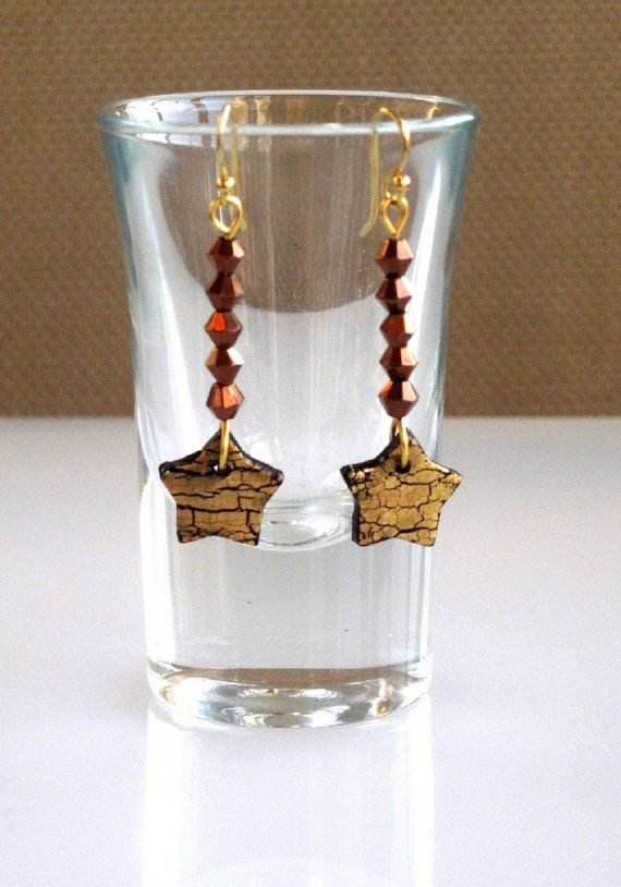 Gifts under 5 Dollars Gold Star Earrings by SarahsArtisanJewelry, $5.00