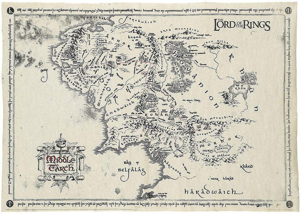 Der Herr Der Ringe Karte Von Mittelerde Mit Bildern Karte Von