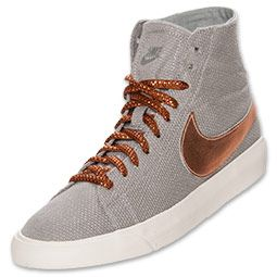 Nike Women's Casual Shoes Blazer Mid Deconstruct PRM Matte Silver/Rugged Orange