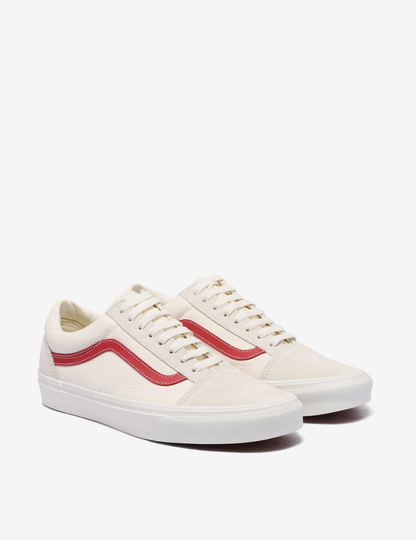 Vans Old Skool Suede Vintage White Rococco Red Vans Old Skool Vans Vans Old Skool Sneaker