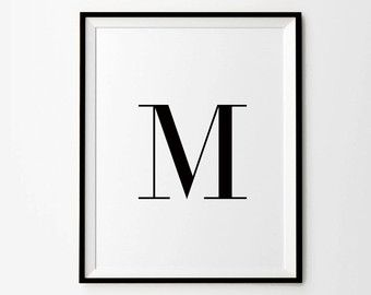 Typography Printable Wall Words Poster Word von MelindaWoodDesigns