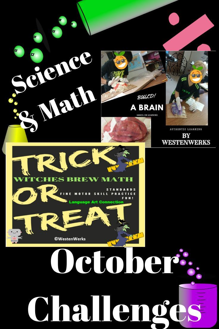 Holloween Math and Science Bundle Equations, Logic Riddles