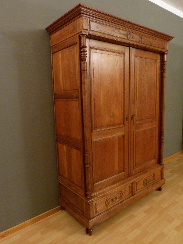 antike m bel gr nderzeit dielenschrank mit s ulen eiche um 1900 m bel antik pinterest. Black Bedroom Furniture Sets. Home Design Ideas