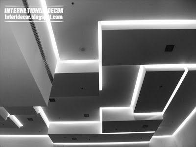 False ceiling pop designs LED ceiling lighting ideas 2014 CEILING