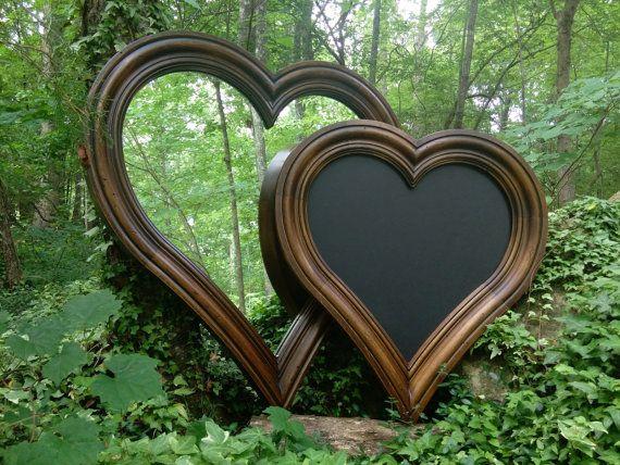 Heart Mirror Rustic Mirror Wood Heart Mirror Large Wood Mirror