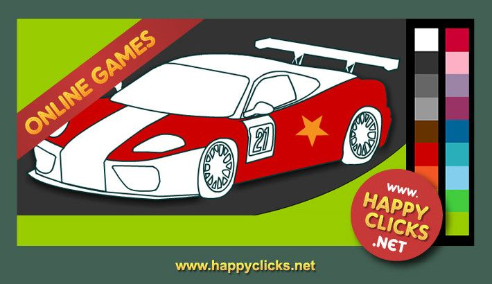 Online Coloring Games For Toddlers And Preschoolers. Racing Car. Free And  Fun! Coloring Games For Kids, Online Games For Kids, Color Games