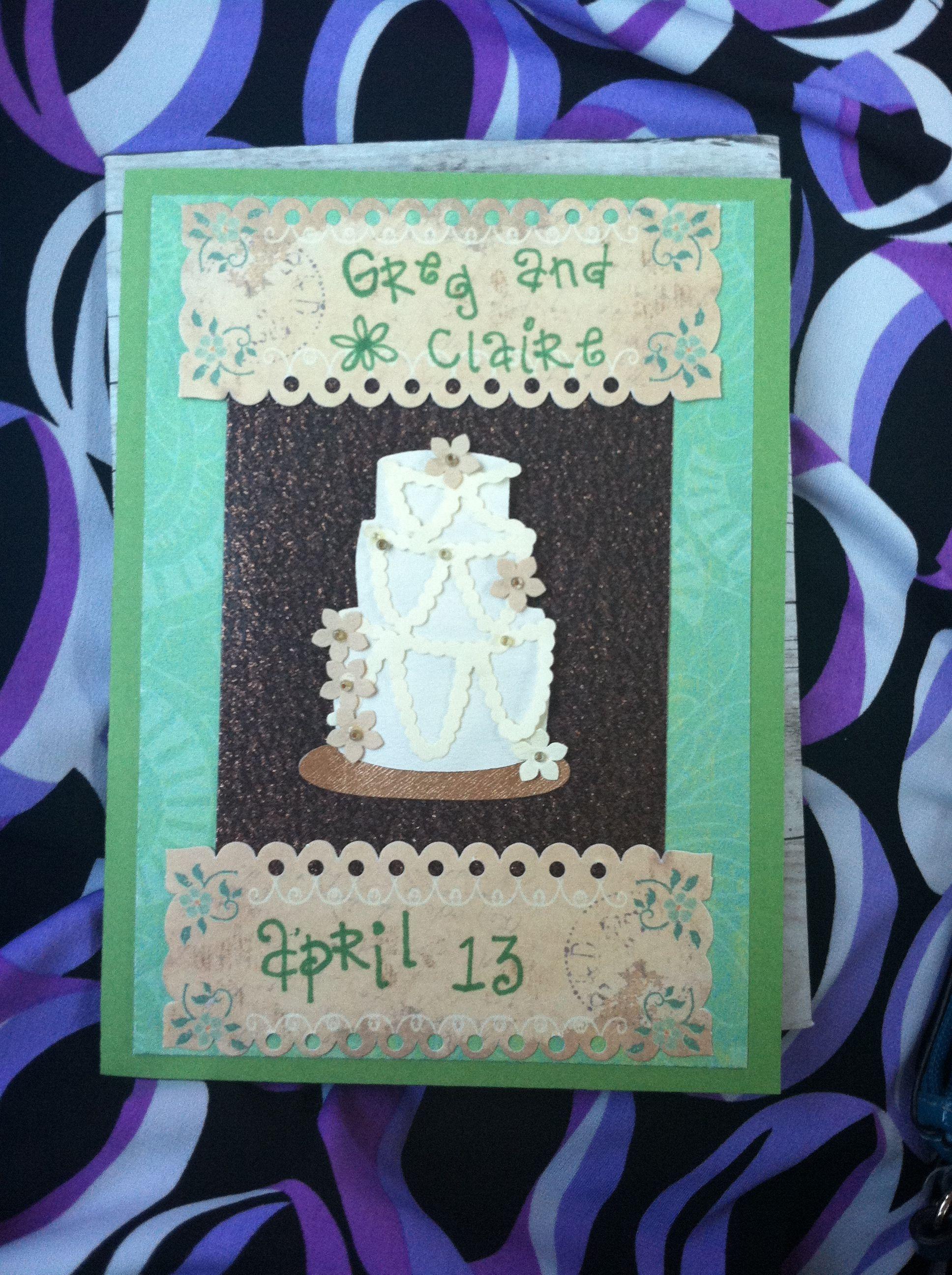 wedding  card making wedding decor