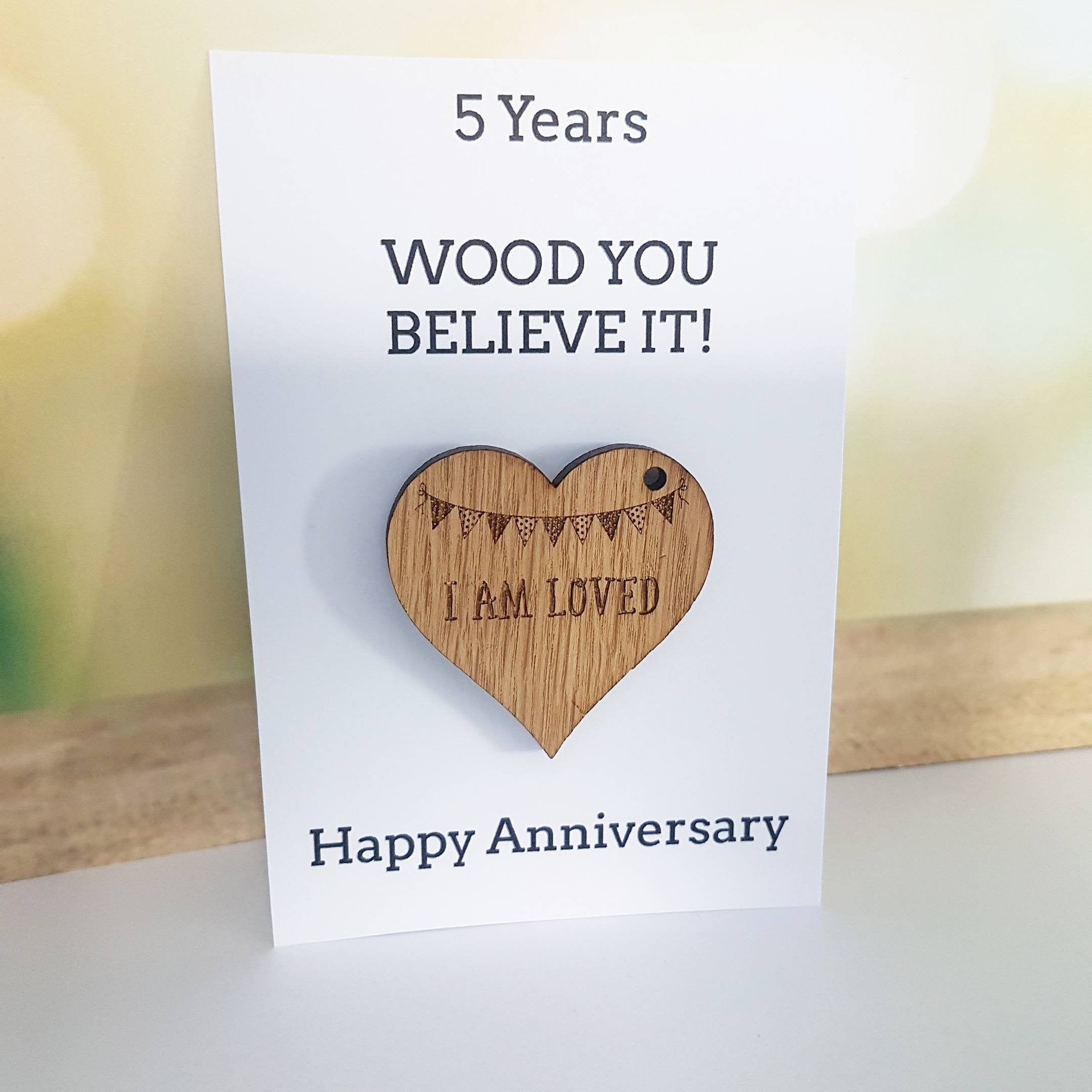 5th Anniversary Card Husband Gift Wife Card Wood Wooden Gift Wedding Anniversary Gift For He Gift Wedding Anniversary Gifts For Husband Anniversary Cards