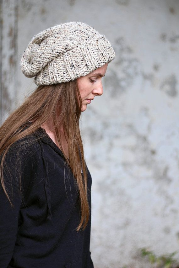 Slouchy Hat Knitting Pattern - WISDOM - Woman\'s Knit Hat - a set of ...