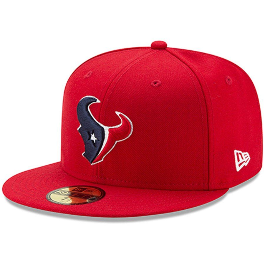 19a68e1d58c Men s Houston Texans New Era Red Omaha 59FIFTY Fitted Hat