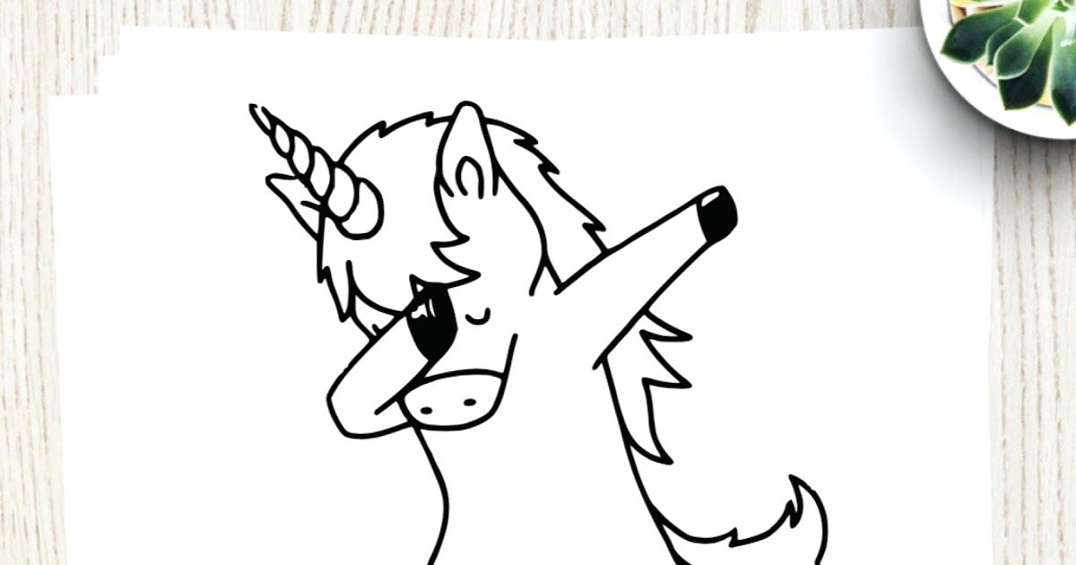 Dabbing Unicorn Coloring Pages Free Printable Paint Colour By Number Dabbing Unicorn Learn Apollina Unicorn Coloring Pages Coloring Pages Cat Coloring Book