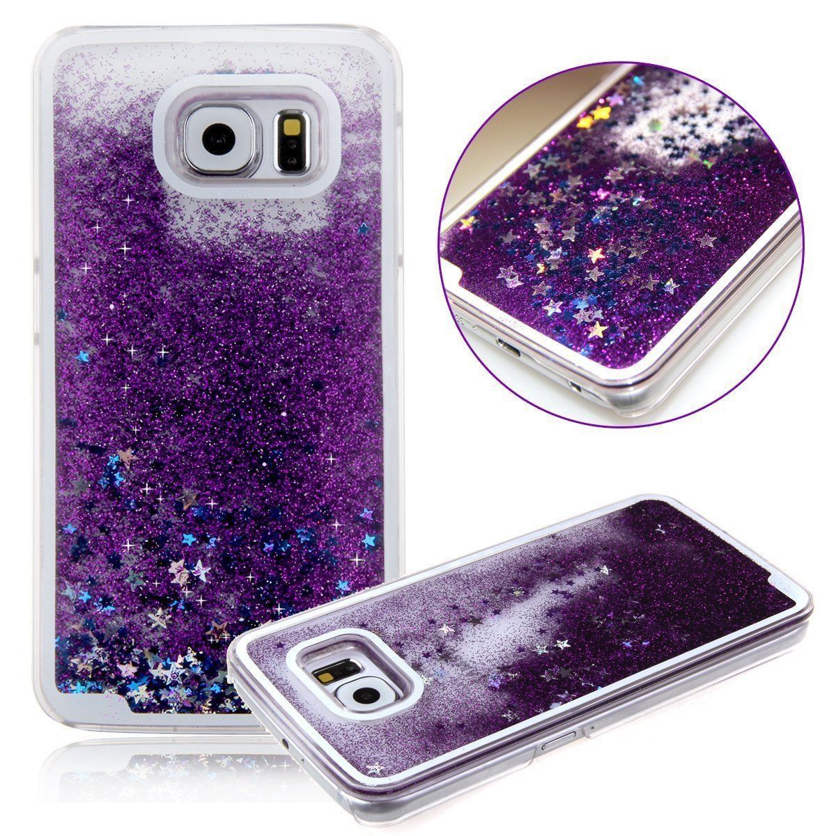 Samsung Galaxy Liquid Glitter Waterfall Moving Star Case Phone Samsungampnbsp Note 4 S6 Edge S7