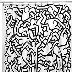Image Of Keith Haring 72 Inch X 72 Inch Shower Curtain Shower