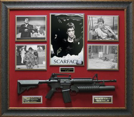Al Pacino Signed Poster Framed Scarface Display Autographed Movie