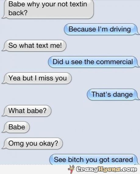 Funny Texting Commercial : funny, texting, commercial, Texting-while-driving-scared-funny, Funny, Messages,, Texts, Jokes,