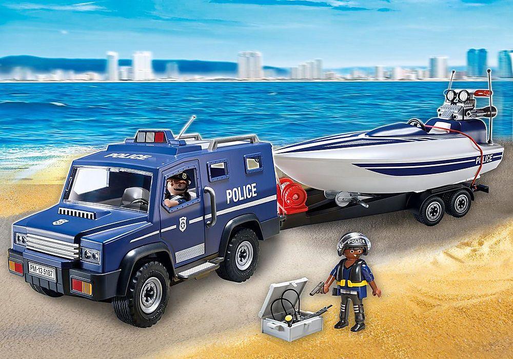 Pin De Corne Vermaas En Playmobil N J Lancha Policia Playmobil Policia