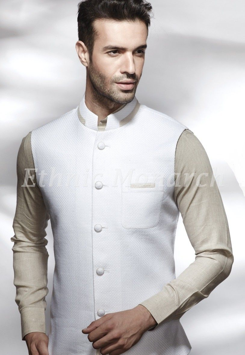 Sensational White Jacket Jackets men fashion, Nehru