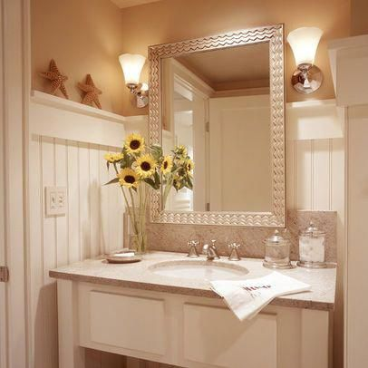 Beach Cottage Bathroom Design Ideas, Pictures, Remodel, and Decor