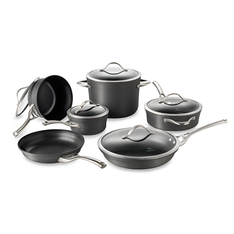 Calphalon® Contemporary Nonstick cookware features heavy