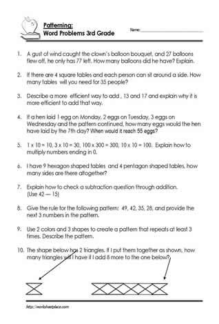 Word Problem Worksheets  My Classroom    Word Problems