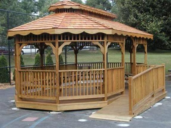 Gazebo For Local School | Custom Outdoor Furniture/Gazebos | Clear Creek  Amish Furniture