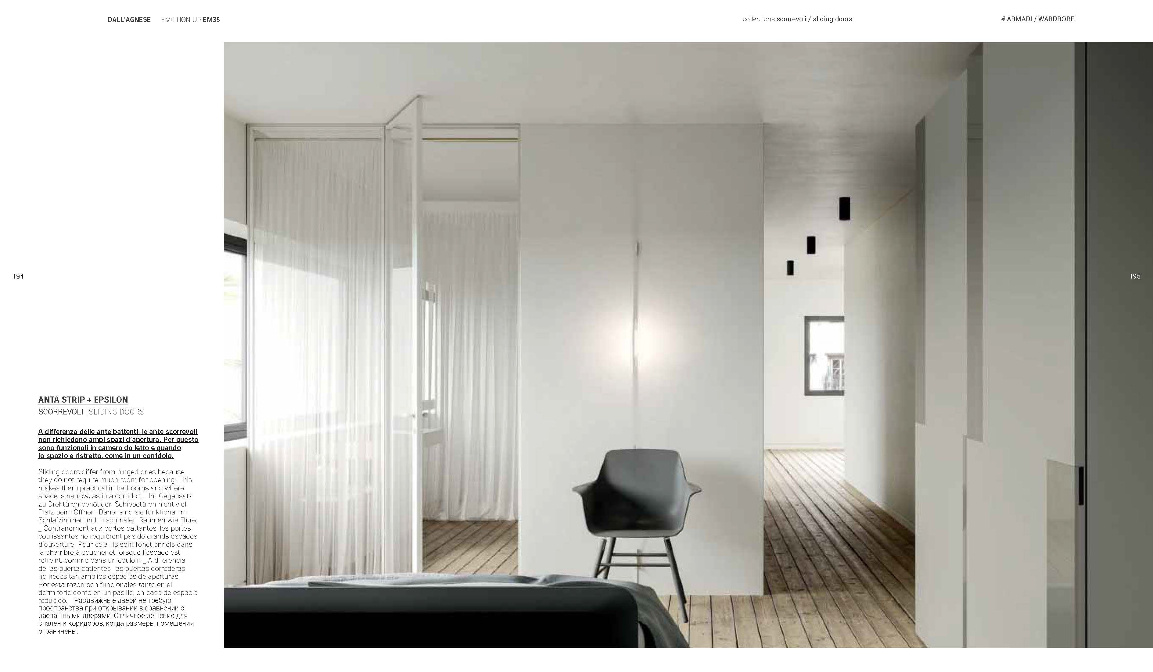 Armadi Laccati Bianchi dall'agnese the wardrobe collection 2019. sliding doors
