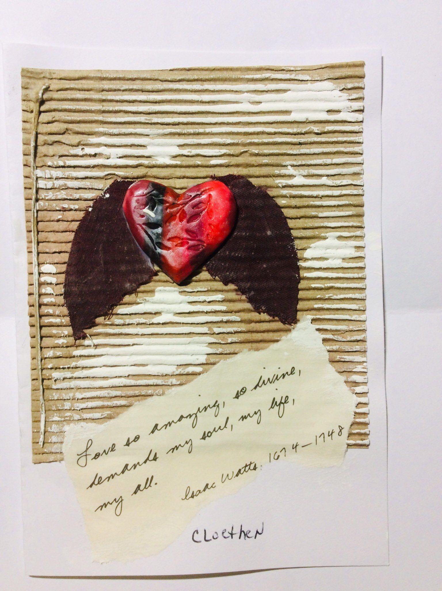 Love So Amazing 3d Handmade Valentine Card Mixed Media Art Original Art Card Valentines Day Card Ooak Love Card Hand Painted Card Valentines Cards Handmade Valentine