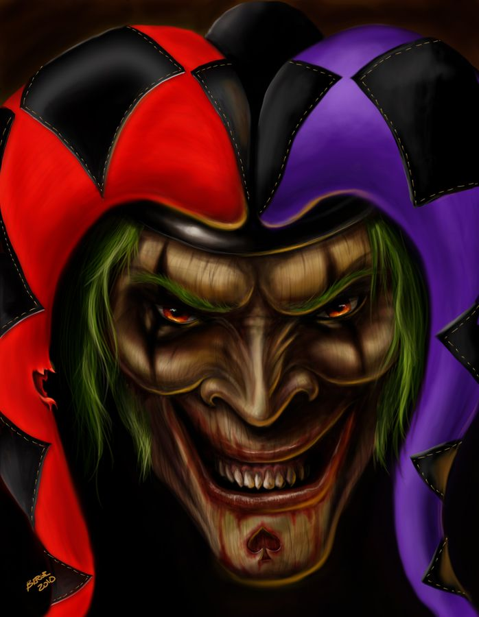 Jester By Aggro Kulture On Deviantart Creepy Evil Clowns Evil