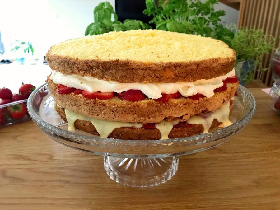 glutenfri tårtbotten i långpanna