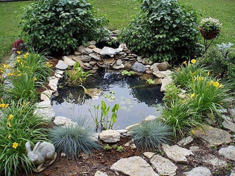 63+ Lovely Small Front Yard Landscaping Ideas | Ponds for ... on Small Pond Landscaping Ideas id=35891