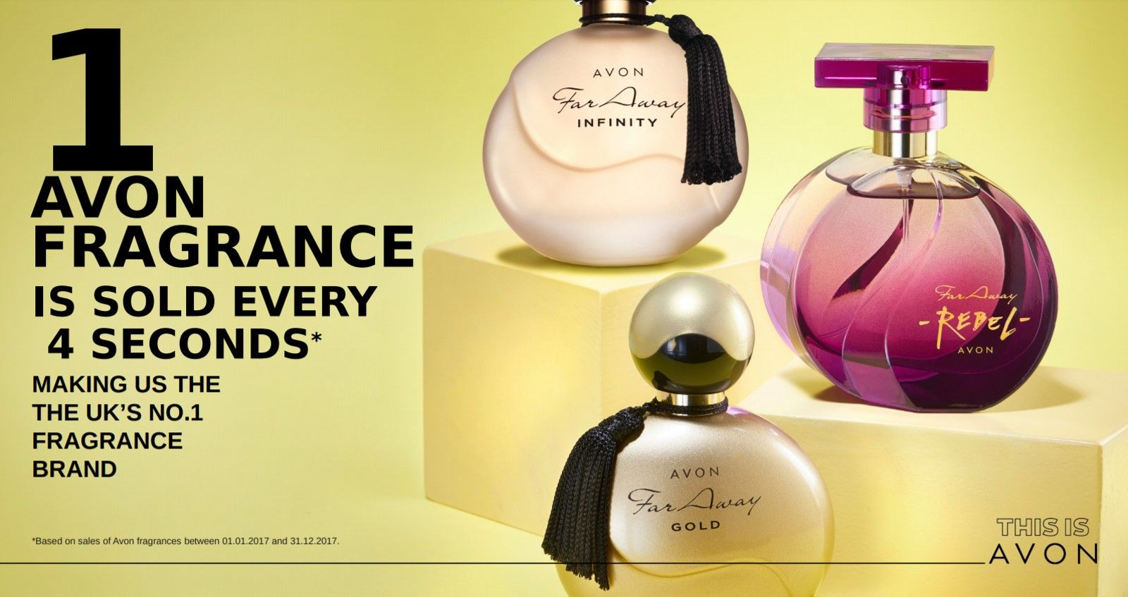 1 Avon Fragrance sold every 4 seconds. I love the Far Away