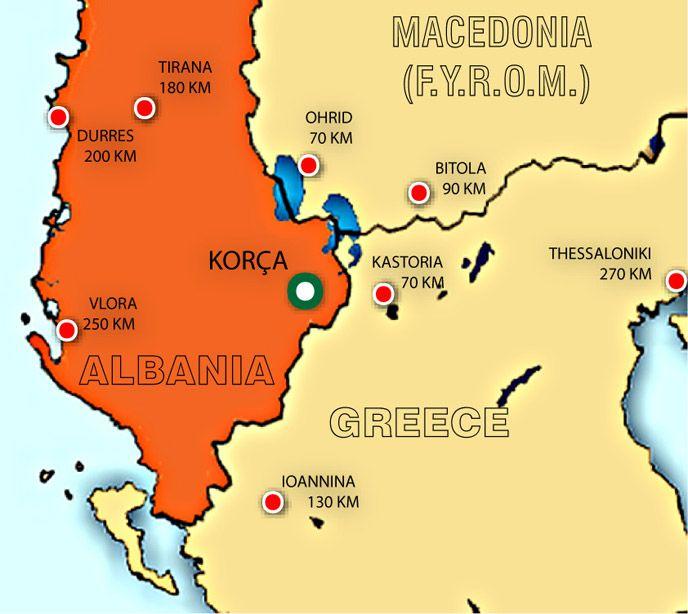 albaniacitiesmapjpg 688614 Kor Pinterest