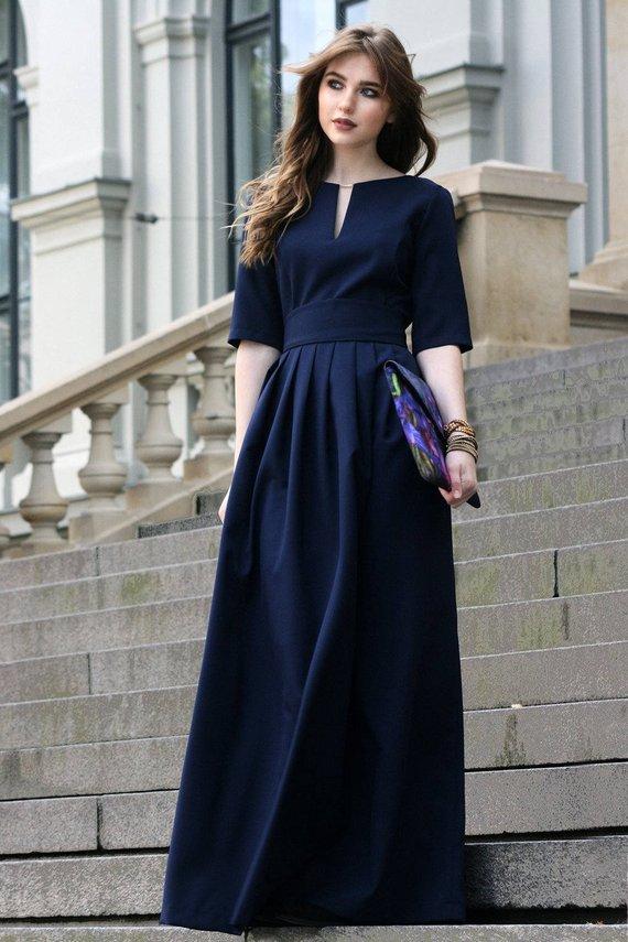 Marine blau Kleid Brautjungfer Kleid Gothic Kleidung   Etsy