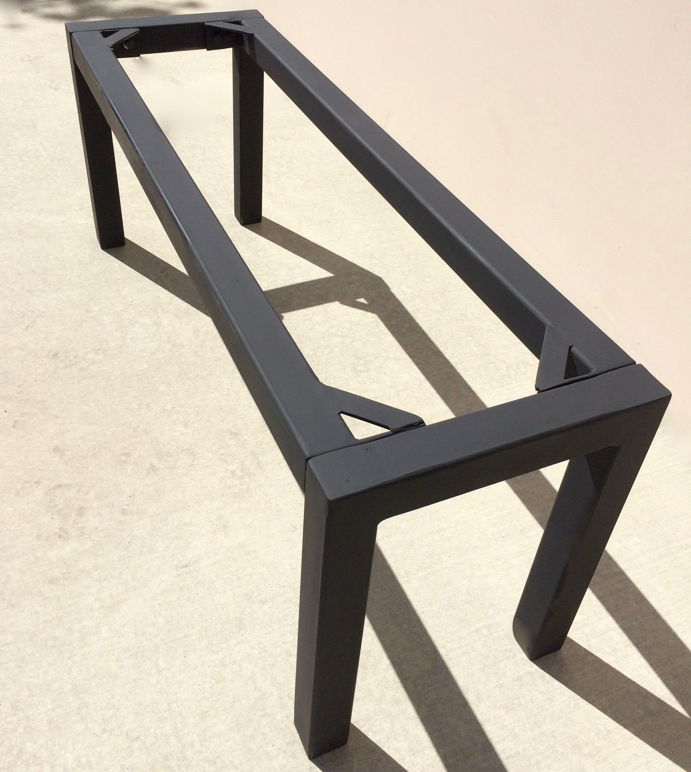 Steel table base in custom dimensions or standard sizing
