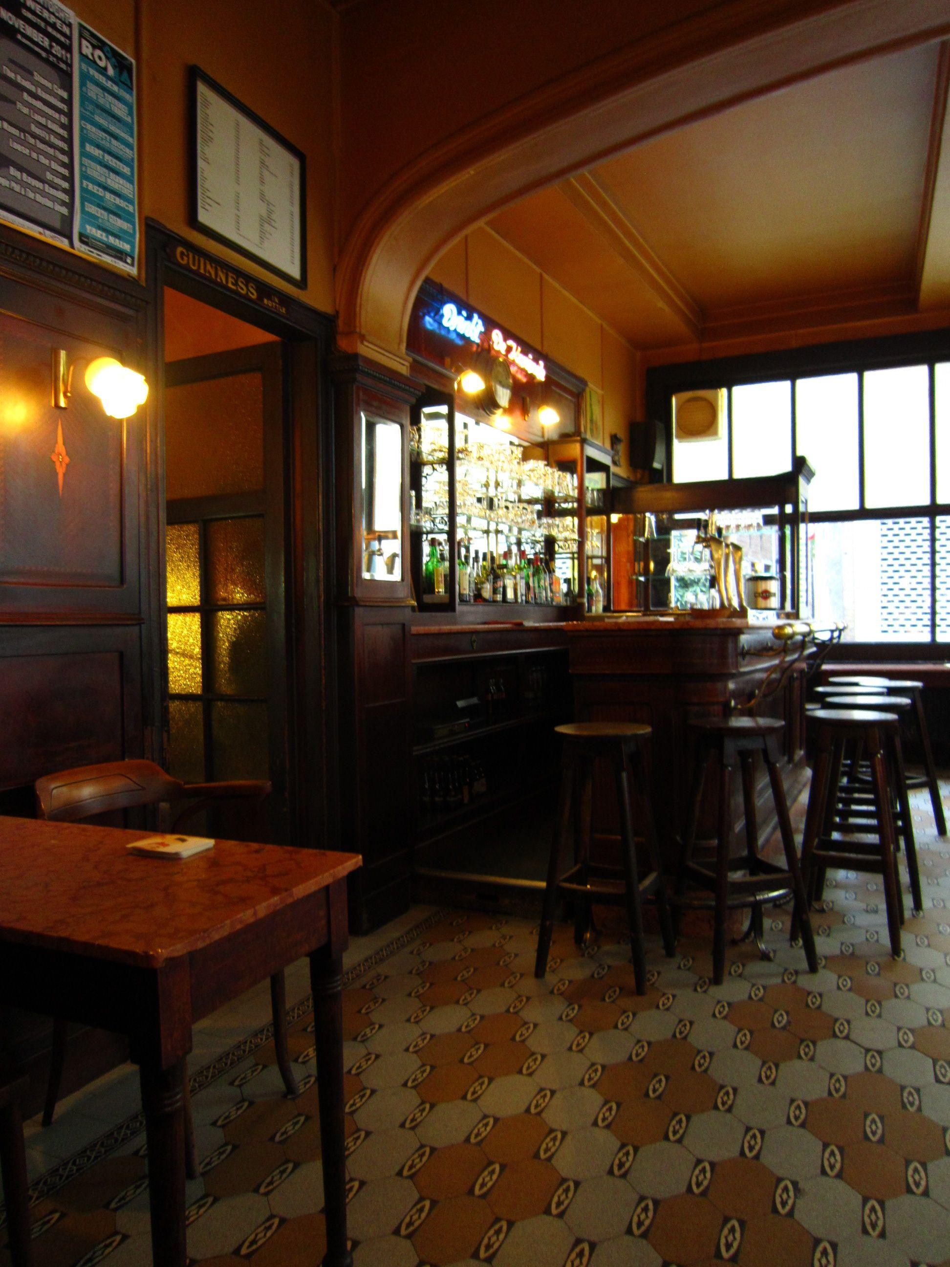 Classic Pub Floor Bar Interior, Antwerp
