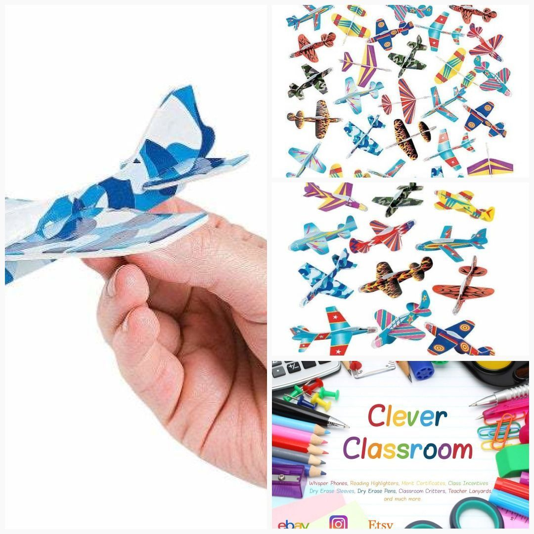 6 Pack Foam Gliders - Planes - Assorted colours and shapes  #cleverclassroom #classroom #classroomcritters #teacherstuff #classroomdecor #backtoschool #etsyteachers #teacher #quietcritters #classroommanagement #quietcritters 6 Pack Foam Gliders - Planes - Assorted colours and shapes  #cleverclassroom #classroom #classroomcritters #teacherstuff #classroomdecor #backtoschool #etsyteachers #teacher #quietcritters #classroommanagement #quietcritters 6 Pack Foam Gliders - Planes - Assorted colours an #quietcritters
