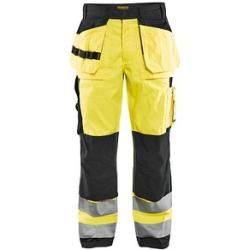 "Photo of Blakläder® unisex high visibility safety trousers ""1533"" yellow size 48"
