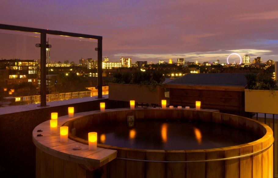 Heaven Hot Tub Over Looking London Bermondsey Square Hotel Lucy Suite Rugglesleisure