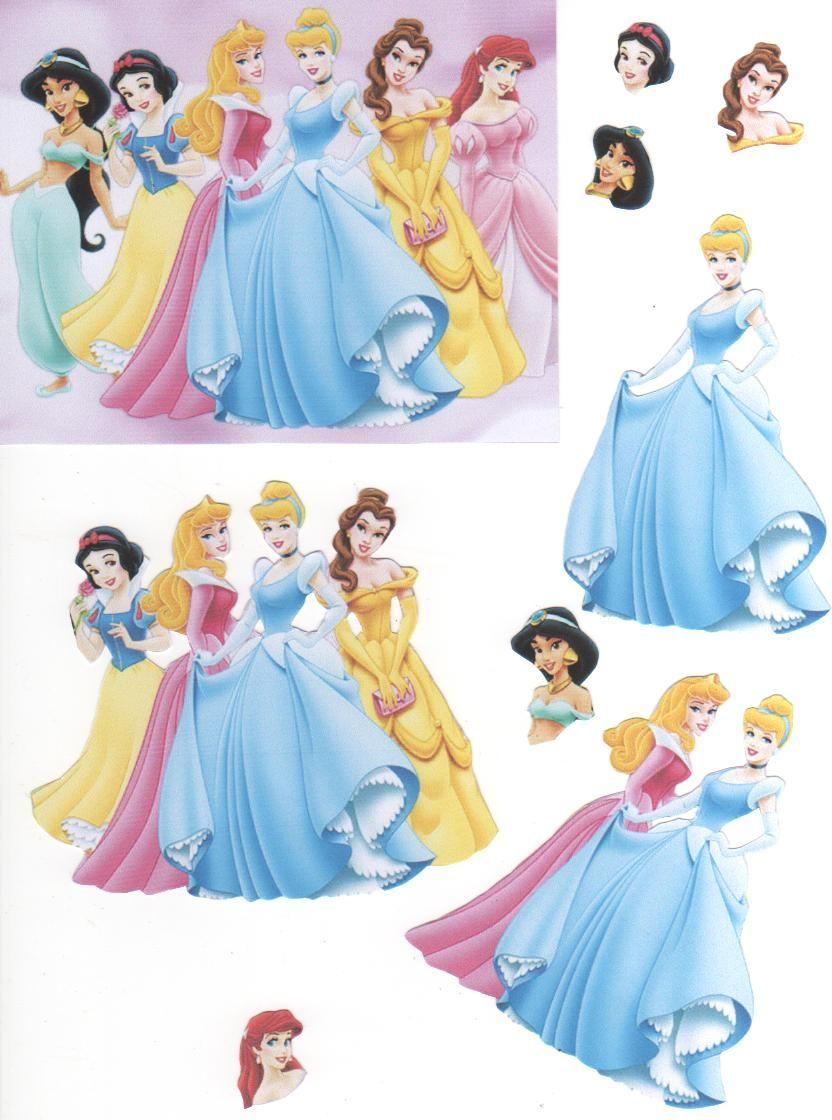 Disney Princesses 3D card topper   Disney cards, Disney ...