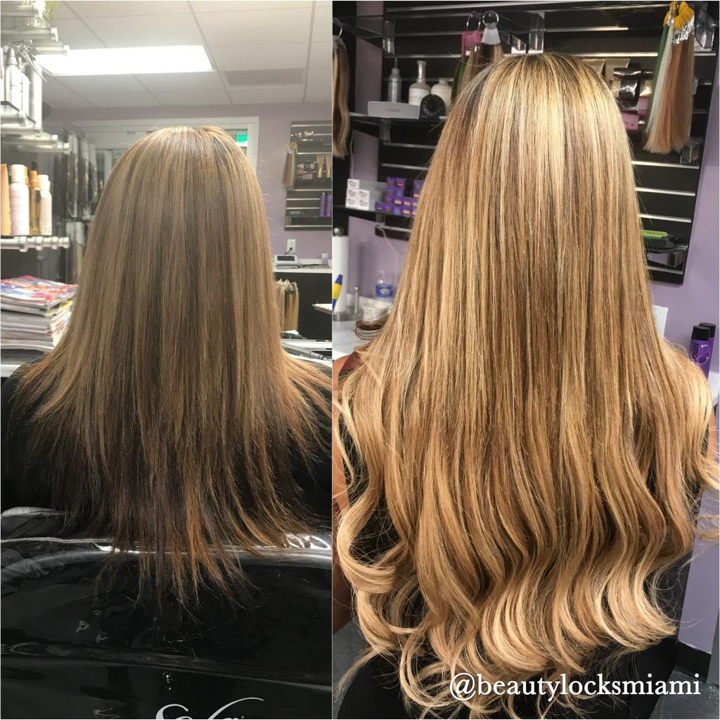 Hair Extensions Hair extensions before and after