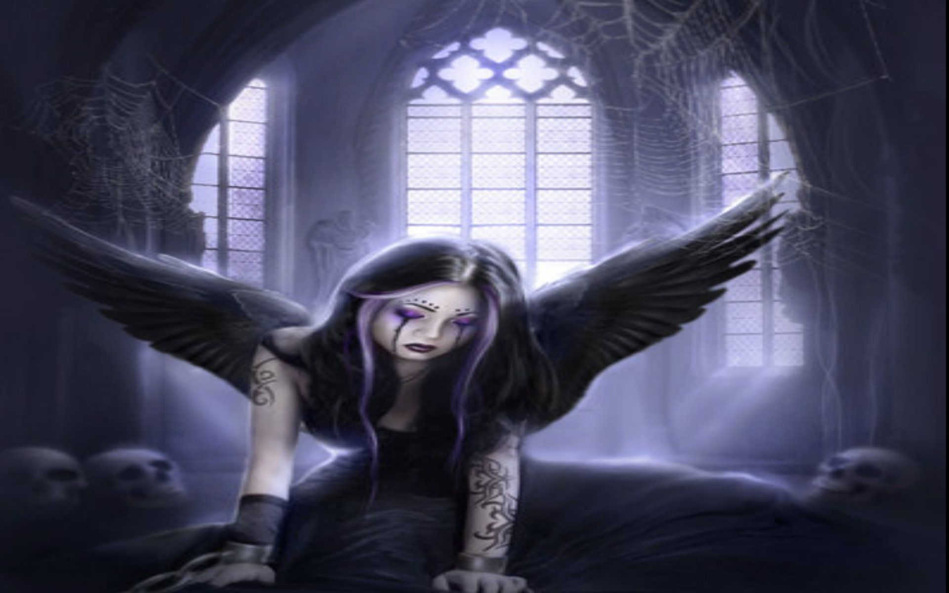 Gothic angel 3 background sad purple tattoo hd wallpaper all about the angels pinterest - Sad angel wallpaper ...