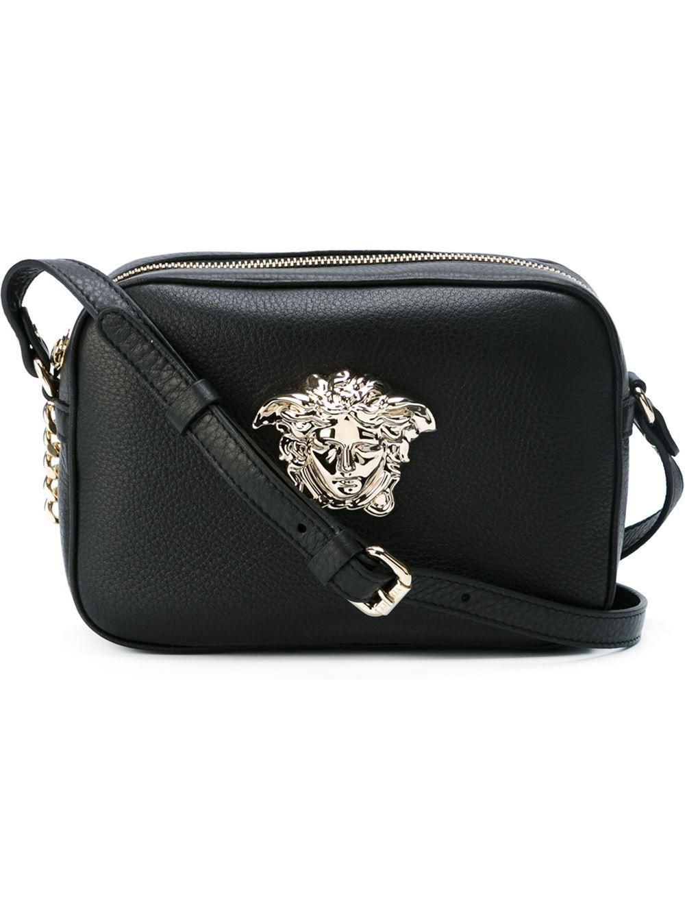 623ac6707a Versace // Medusa Crossbody Bag in Black   aesthetic. in 2019 ...