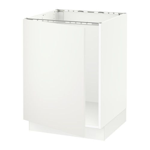 Sektion Base Cabinet For Sink White Bodbyn Gray Van Life