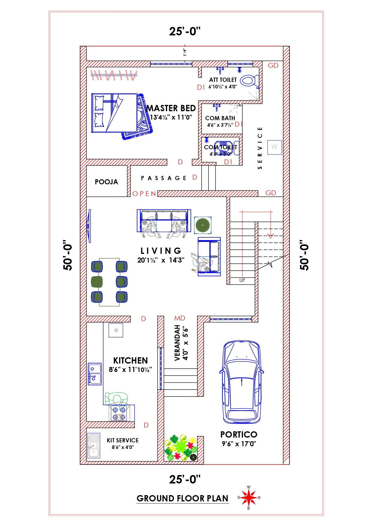 East Facing Plan 2bhk House Plan 20x30 House Plans Indian House Plans