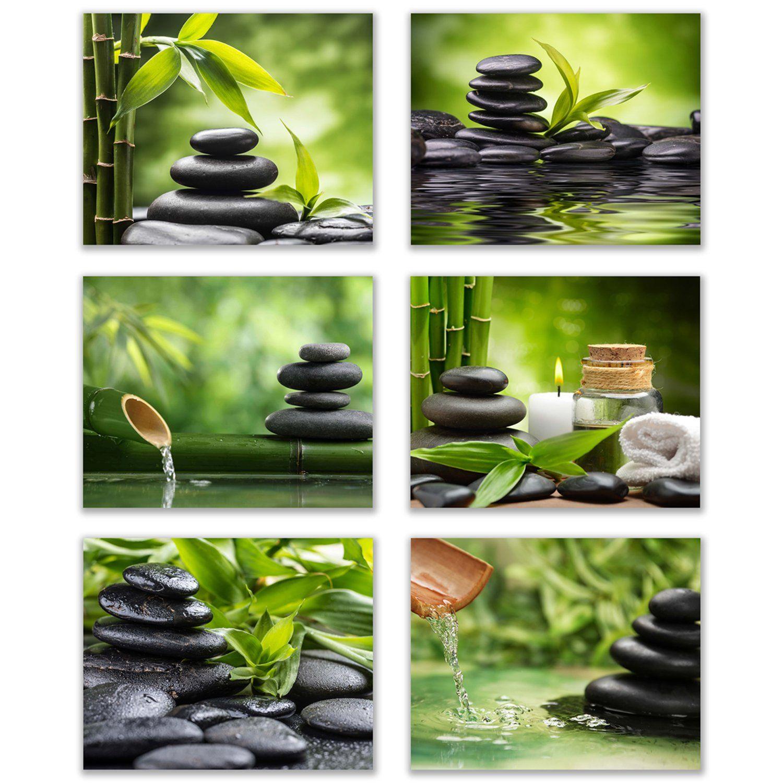 Inspirational Zen Spa Wall Art Set Of 6relax And Motivate Beauty