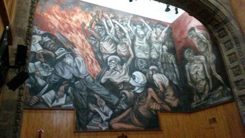 Paraninfo Del Musa Udg Mural De Jose Clemente Orozco Jose
