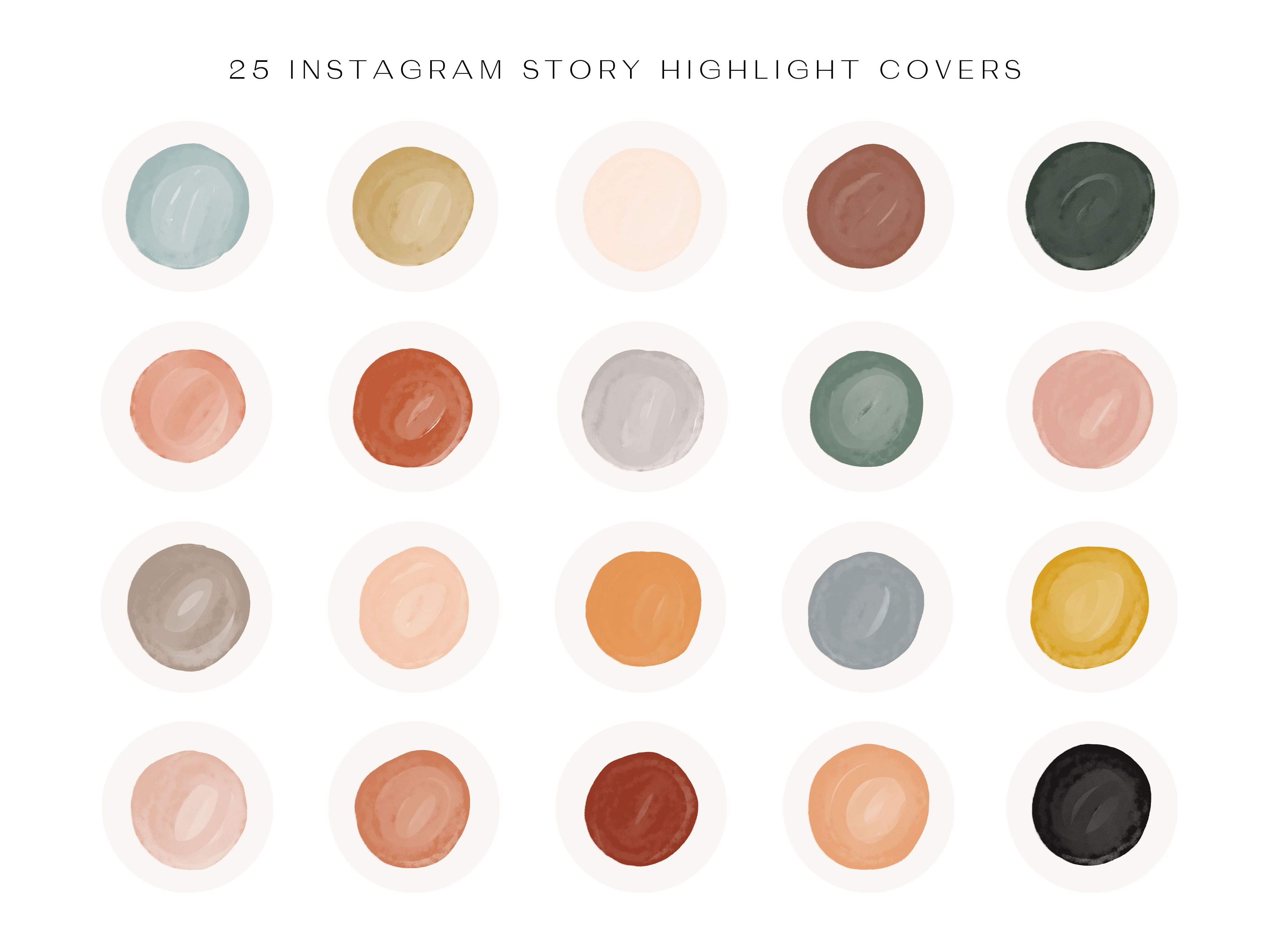 Watercolor Instagram Highlight Covers Instagram Story