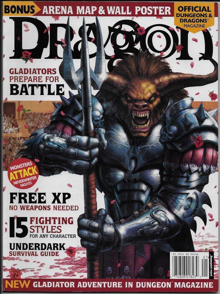 Dragon Magazine #303 January 2003 D&D 3rd Ed Gladiators NO