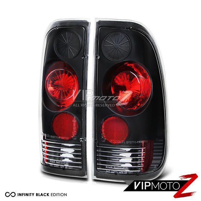 Ford 97 03 F150 F250 99 07 Superduty Style Side Black Tail Lights Brake Pair F250 F150 Tail Light